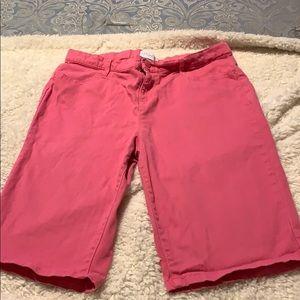 Girls pink Bermuda shorts.